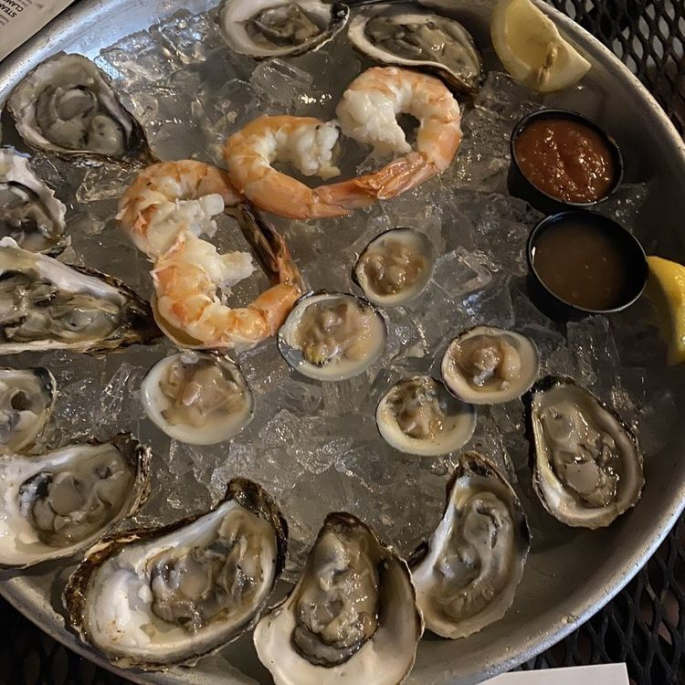 Oysters Clams and Shrimps